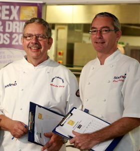 Young Chef judges Malcolm Emery and David Mulcahy