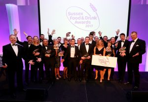 Sussex Food and Drink Award winners 2017 , held at the AMEX stadium Brighton